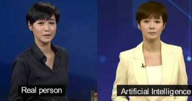 """صورة أول مذيعة أخبار """"روبوت"""" بتليفزيون كوريا الجنوبية.. هل ينهى الذكاء الاصطناعى مستقبل الإعلام"""
