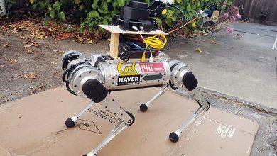 صورة روبوت رباعي الأرجل يمكنه توجيه المكفوفين عبر الممرات الضيقة