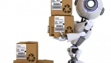 صورة بالفيديو.. نقل وترتيب الأكياس بواسط الروبوت