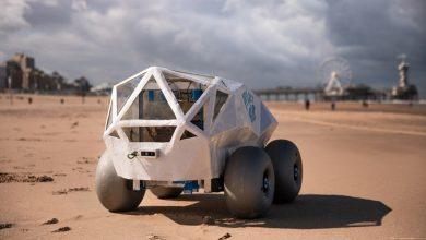 صورة روبوت يعتمد على الذكاء الاصطناعي في تنظيف الشواطئ