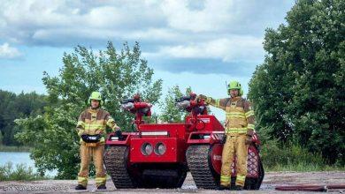 """صورة بالفيديو.. روبوت """"ثوري"""" يكافح الحرائق"""