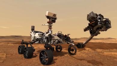 """صورة روبوت """"ناسا"""" ينجح في استخراج عيّنة صخرية من المريخ"""